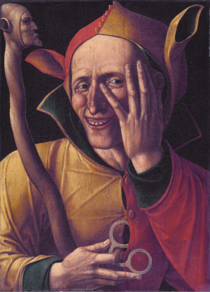 "A later version of the ""Laughing Fool"" Laughing jester *47 X 37 cm *1500s"
