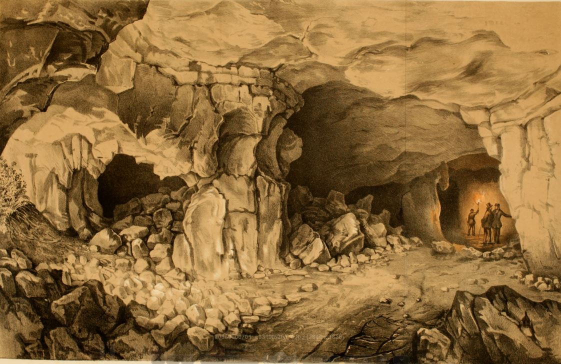 A Light of Peculiar Color 1858 exploring a cave