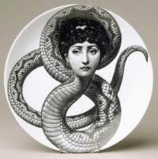 Maternal Influence and Monsters snake with woman's head