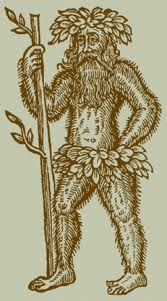 A medieval wild man or woodwose, with club.