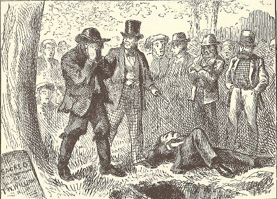 Touching the Corpse: Late Examples of Cruentation In Tom Sawyer Joe stands by the corpse of one of his victims as Muff Potter is accused.