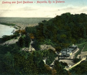 Devil Backbone, looking towards Maysville, Kentucky. Image from Kentucky Digital Archives