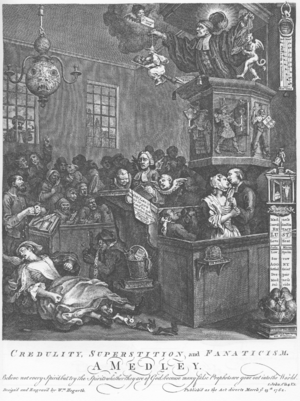 Credulity, Superstition, and Fanaticism, by William Hogarth, 1761