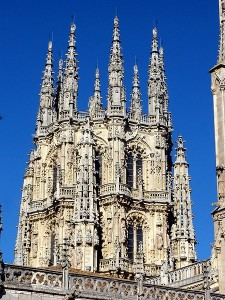 One of the towers of Burgos Cathedral