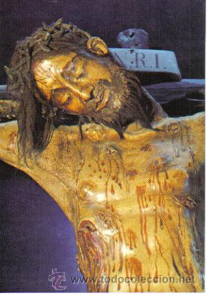 A close-up of the Christ of Burgos