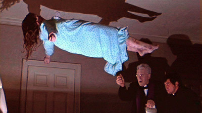 Polt or Possessed on Prince Edward Island? The possessed girl's levitation scene from The Exorcist.