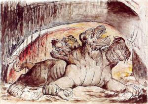 The Giant Phantom Dog of Tanao Atoll Cerberus, William Blake, Source: Wikipedia