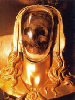 The Dead Heads of Annecy Reliquary of the supposed skull of Mary Magdalene at the Basilica in Saint-Maximin