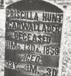 The Battle of Gettysburg Foretold by a Clairvoyant and a Quakeress Priscilla Coffin Hunt Cadwallader's tombstone.