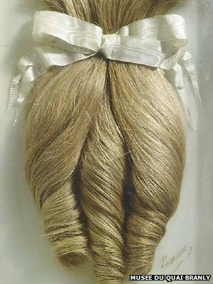 Curls cut and preserved when a young woman named Emma entered the convent. http://www.bbc.com/news/world-europe-19787338