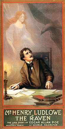 The Pen From Poe's Coffin A poster for George Hazelton's play The Raven.