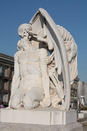El Petó de la Mort Cementiri de Poblenou, Barcelona