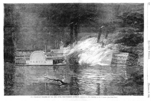 The Ghost With One Hand An illustration of the collision between the United States and America. From this site, telling the story of the disaster. http://freepages.genealogy.rootsweb.ancestry.com/~wynkoop/webdocs/steambts.htm
