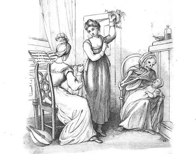 The Seven Babies in No. 77 Death as the baby's nurse, 1827