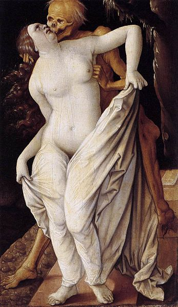 Kiss of Death. Death and the Maiden, Hans Baldung Grün.