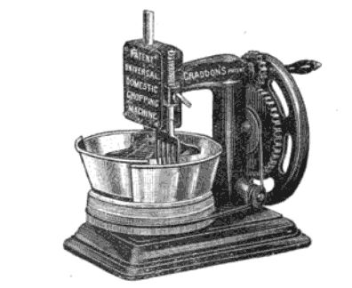 Post-mortem Patent - An Inventive Spirit Patents a Chopper Mrs Graddon's chopper