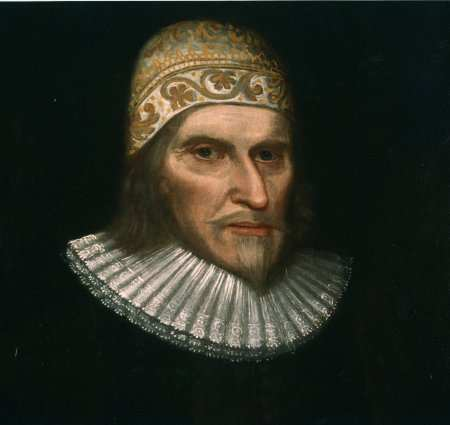 Portrait of Humphrey Chetham, from the library reading room