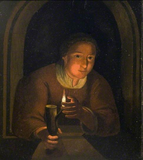 The Listening Woman, Godfried Schalken http://www.bbc.co.uk/arts/yourpaintings/paintings/the-listening-woman-59744