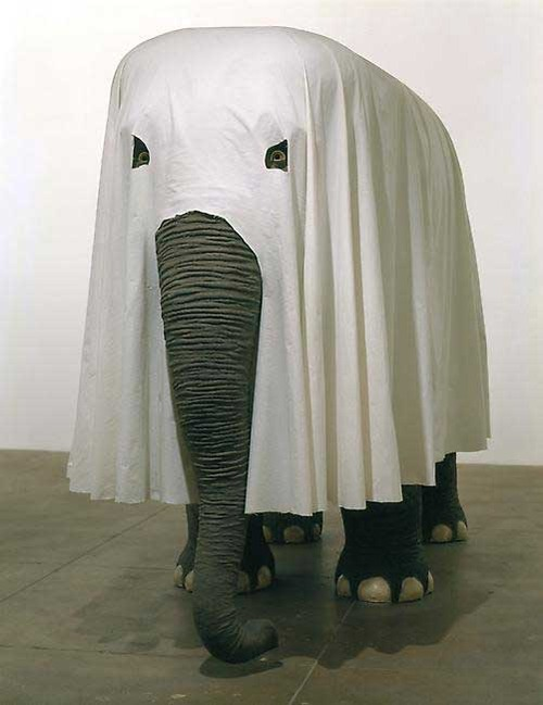 The Ghost of Romeo, the Circus Elephant elephant ghost in sheet