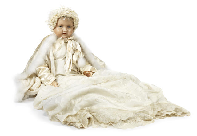 The Dead Doll Pierotti wax baby. http://www.bonhams.com/auctions/21841/lot/56/