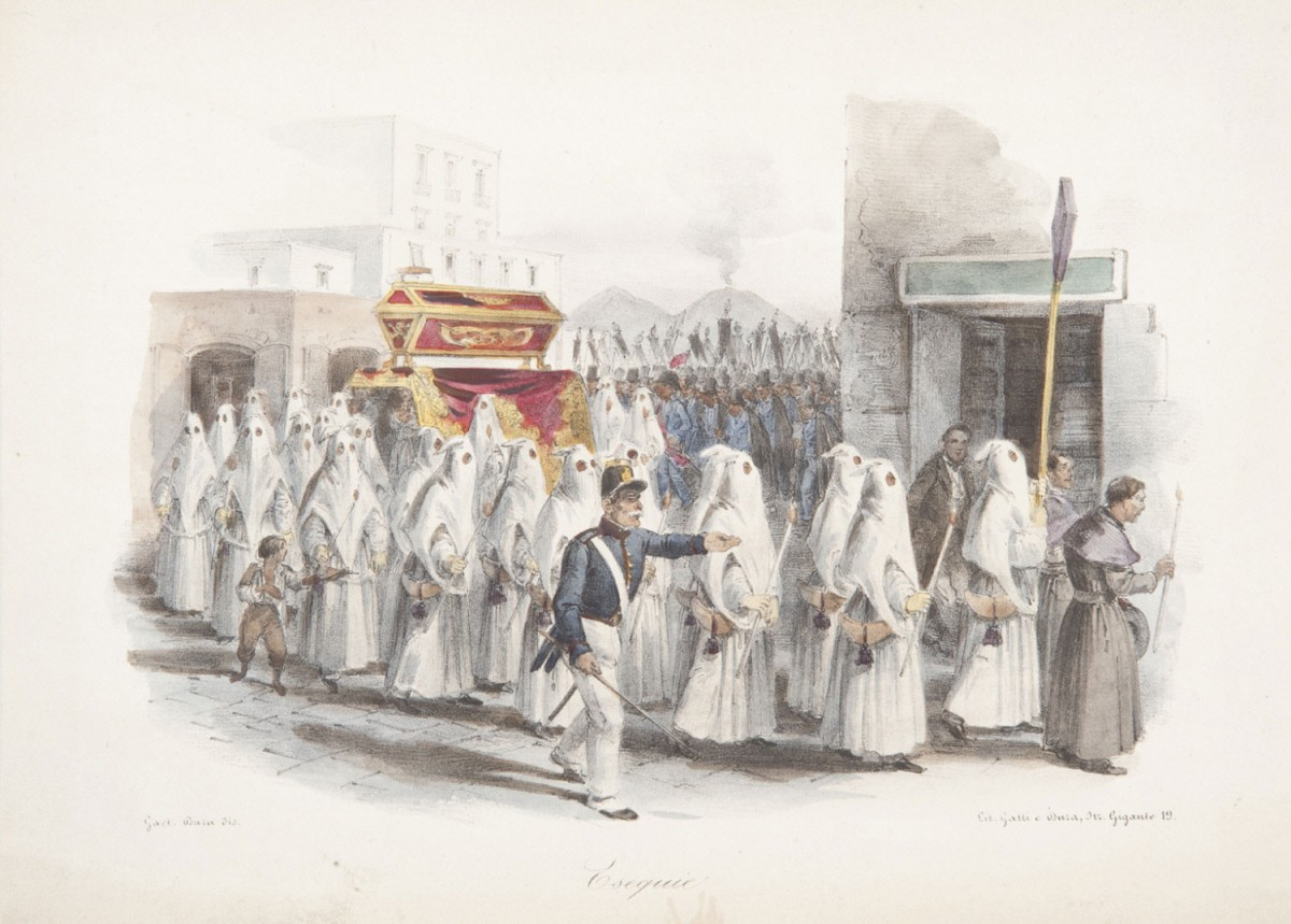 An engraving showing a more affluent Italian funeral. http://www.philamuseum.org/collections/permanent/25714.html?mulR=1854290710|31