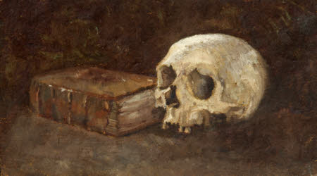 The Ghost and the Book Still Life with Book and Skull by Charles Paget Wade 1908