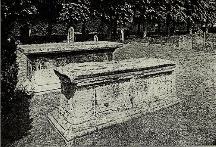 A pair of altar tombs