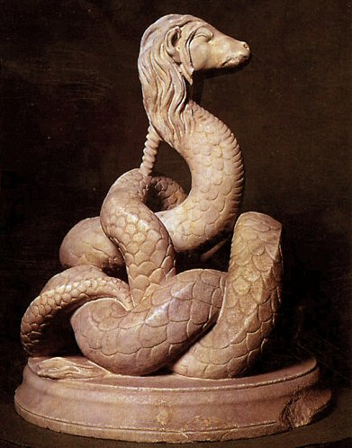 """Yes, I know Glycon has nothing to do with a Wisconsin furry snake. Hairy snake illustrations are hard to come by. """"Glykon-statuette"""". Licensed under Public Domain via Wikipedia - http://en.wikipedia.org/wiki/File:Glykon-statuette.jpg#/media/Source: Wikipedia"""