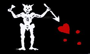 The Flagman and the Skeleton: A Vision in the Sun Pirate flag with skeleton