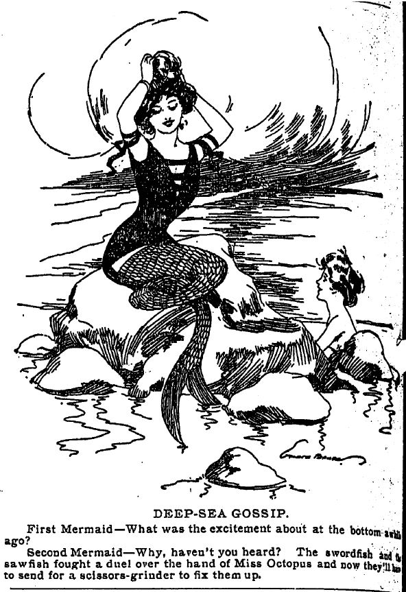 Deep-Sea Gossip between mermaids, 1911