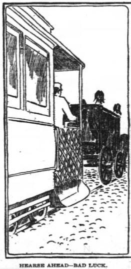 hearse ahead back luck motormen