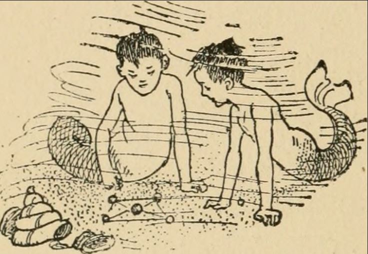 Mer-children playing marbles, 1902