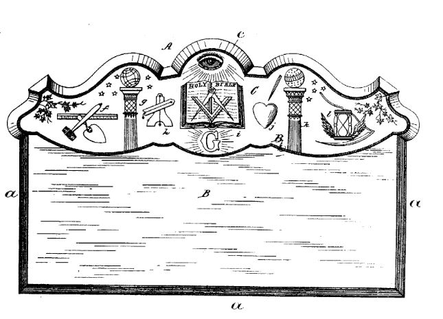 An 1884 coffin plate designed for a Mason.
