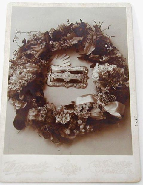 http://www.ebay.com/itm/Victorian-Mourning-Cabinet-Photo-Wreath-Traced-Hand-Our-Darling-Butler-PA/161820266876?_trksid=p2047675.c100011.m1850&_trkparms=aid%3D222007%26algo%3DSIC.MBE%26ao%3D1%26asc%3D20140602152332%26meid%3D2ed867ee2db14b2ba56e6bf9c2e67f60%26pid%3D100011%26rk%3D2%26rkt%3D2%26sd%3D251797176118