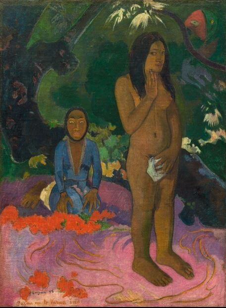 Creature Feature: The Varua Ino: The Ravening Watchers Parau na te Varua ino (Words of the Devil), Paul Gauguin 1892, National Gallery of Art, Washington D.C.