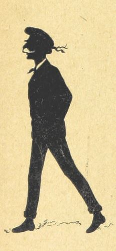man in black silhouette