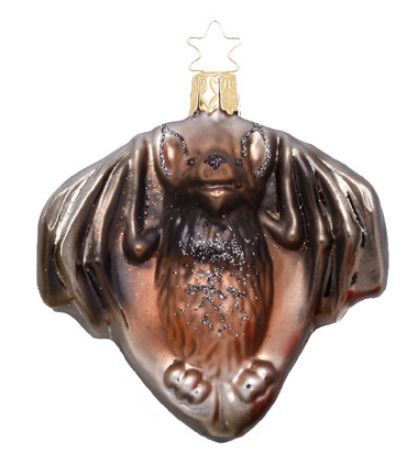 Bat Christmas ornament. http://www.trendyornaments.com/mysterious-bat-inge-glas-of-germany-christmas-ornament.html