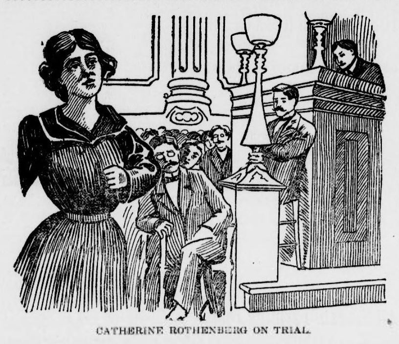 The Witch of Leadville, Catherine Rothenberg on trial