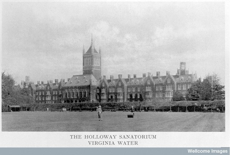 The Voluntary Lunatic Holloway Sanatorium, 1885, Wellcome Images http://blog.wellcomelibrary.org/2016/07/holloway-sanatorium-for-the-insane/