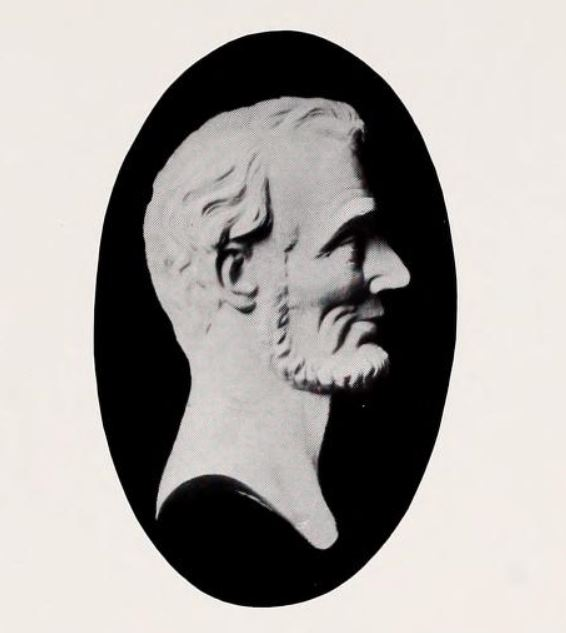Lincoln's Haunted Death Mask A bas relief said to have been taken from Lincoln's death mask.