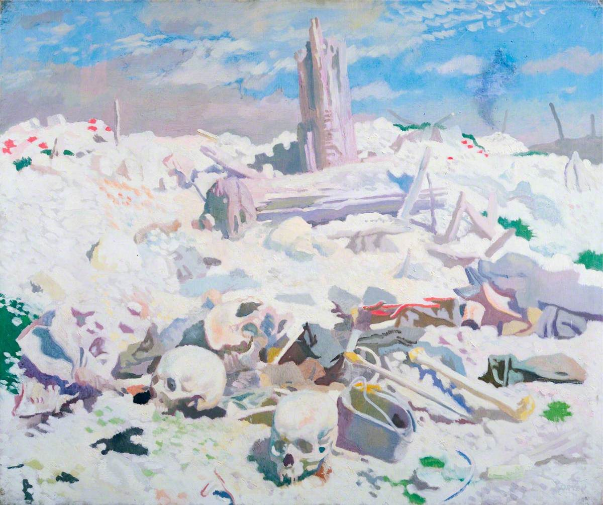 Two Skulls at Thiepval Orpen, William; Thiepval; IWM (Imperial War Museums); http://www.artuk.org/artworks/thiepval-6439
