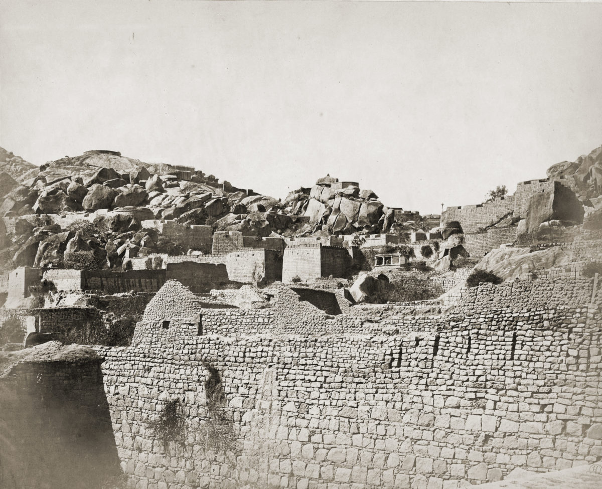 The Women on the Wall, Ramparts of the Chitradurga Fort, 1868 https://en.wikipedia.org/wiki/Chitradurga_Fort#/media/File:Ramparts_of_the_Fort,_Chitradurga.jpg