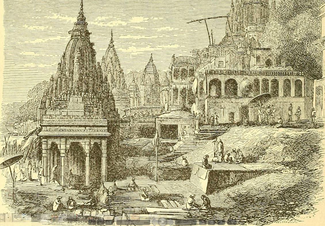 A Benares Lady Magnet Temples at Benares 1873
