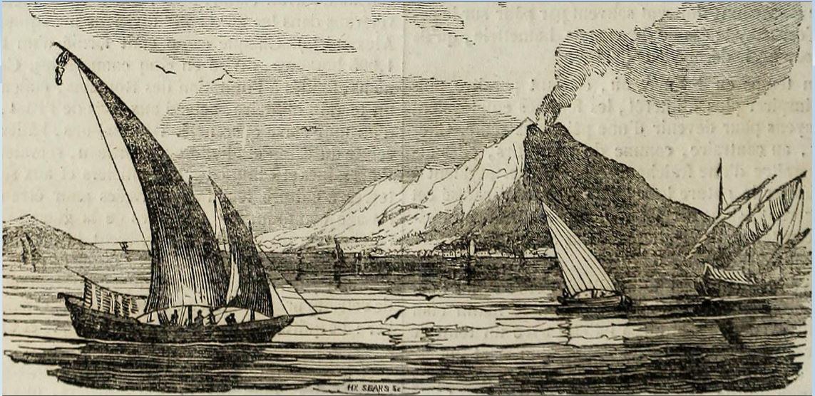 Volcanic Damnation Stromboli Volcano in 1833