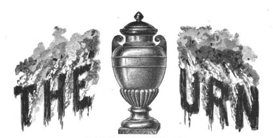 Pinched Ashes. The Urn accompanied by burning ashes