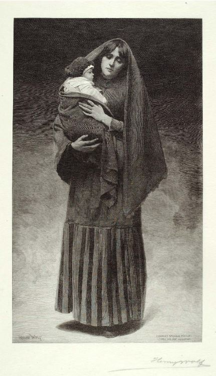 Begotten by a Ghost: The Widow, Henry Wolf, 1892. The Smithsonian