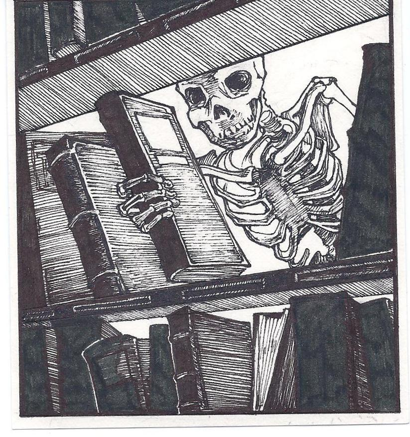 Halloween Mystery Box of Ghost Books Offer Library Skelly by Jessica Wiesel, @copyright 1995