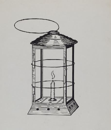 When the Flame Leans Over Comstock miner's lantern, Florence Huston, 1936 https://www.google.com/culturalinstitute/beta/asset/comstock-miner-s-lantern/dQHULRcGmgDmmw