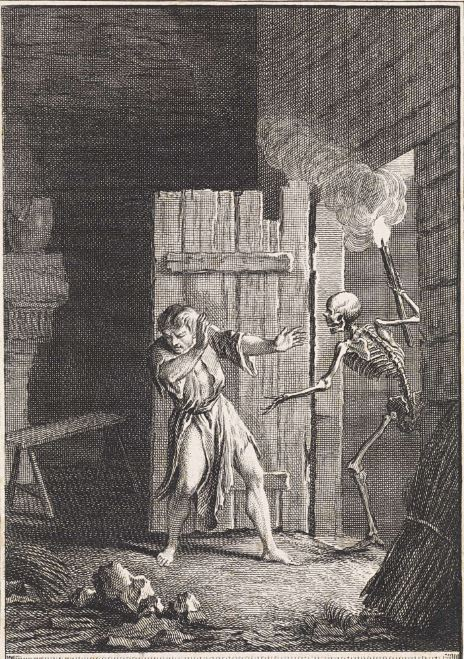 The Bijli of the Flaming Torch Death with flaming torch, Jan Punt, 1758