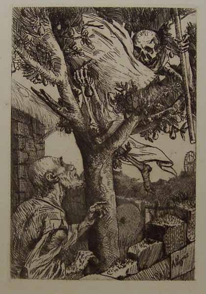 Death in the Mango Tree Death in the Pear Tree, Alphonse Legros, 1870